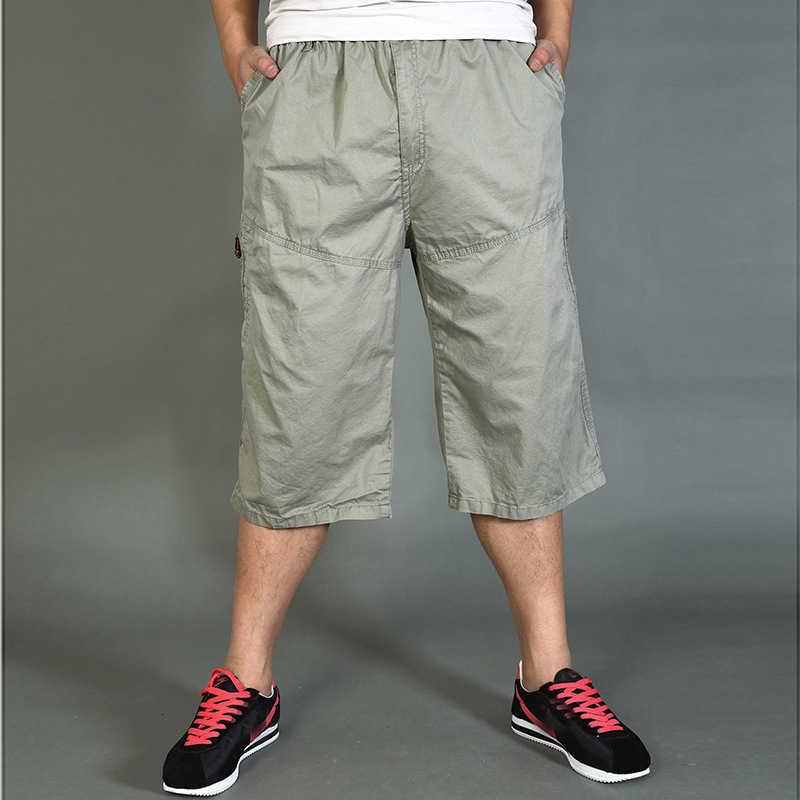 Men/'s Cargo Shorts Bermuda Bottoms 3//4 Cotton Trousers Casual Outdoor Pants
