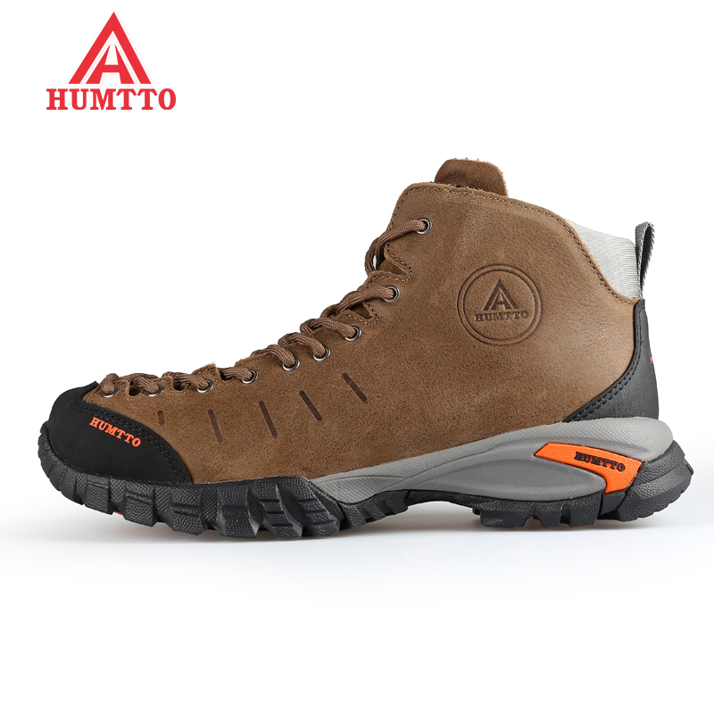 HUMTTO Men's Winter Sports Outdoor Hiking Trekking Boots Sneakers Shoes For Men Genuine Leather Climbing Mountain Boots Shoes kerzer outdoor shoes men autumn winter hiking boots slip on trekking shoes leather mountain climbing sneakers