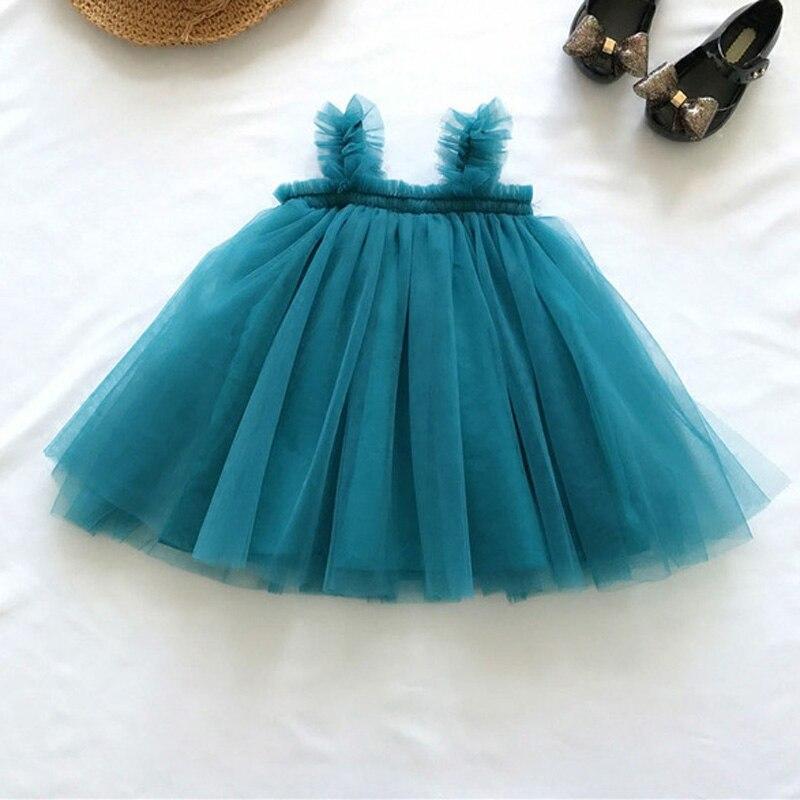 Children Dress 2018 Baby Girls Sling Ball Dresses Sleeveless Mesh Tutu Dress Summer Girl Party Dress Vestidos 1-6Y RT034