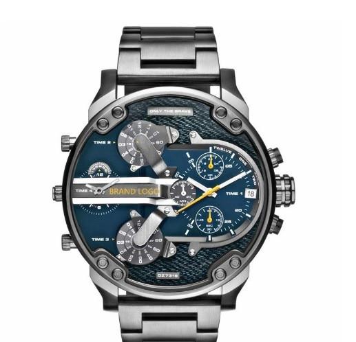 2016 New fashion calendar full steel Watch Military Man Business Casual quartz Wristwatch Brand Relojes Hombre