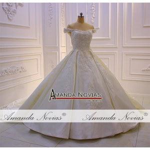 Image 2 - Свадебное атласное платье с лямками, robe de mariage 2019