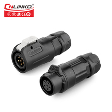 CNLinko Hot Sale Wire to 6 Pin Circular Plug and Socket M12 PBT Plastic Power Waterproof Electrical Connector 6Pin