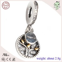 DIY Delicated High Quality Trendy 925 Sterling Silver Family Hanging Charm