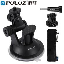 Dragonpad PULUZ Car Suction Cup Mount with Screw & Tripod Mount Adapter for GoPro цена