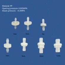 PP plastic aquarium Check valve /Non return valve/No return valve prevent water back to pump Size 3mm, 4mm,5mm,6mm,8mm,10mm,12mm