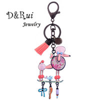 Cute Dog Keychain & Pendant Women Charm Car Key Ring Holder Key Chains for Handbag Girls Best Gift Jewelry Accessories 2019 New