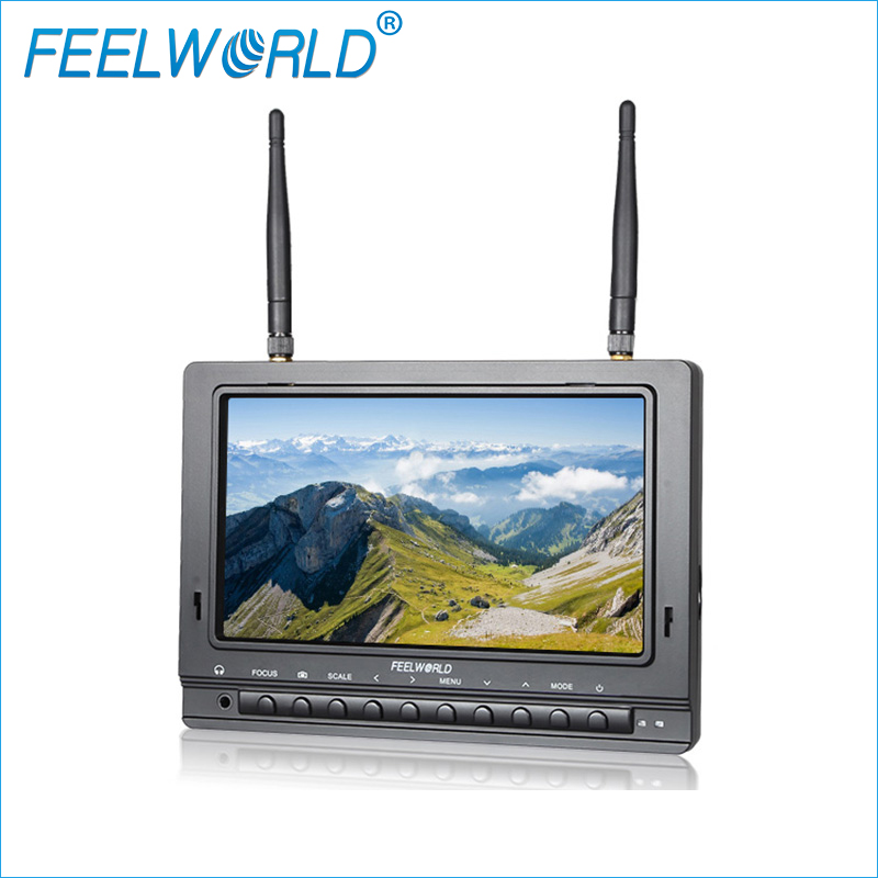 FPV733 7 inch 1000cd/m Brightness TFT FPV Monitor With Dual 5.8G 32CH Diversity Receiver Feelworld 800x480 Drone Monitors