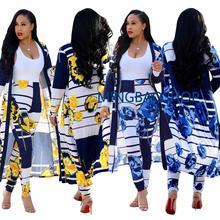2019 Women Two Piece Set Female Long Sleeve Dress Smock Cloak Cape Coat +Long Pants Legging Ladies Outfit Femme Suit