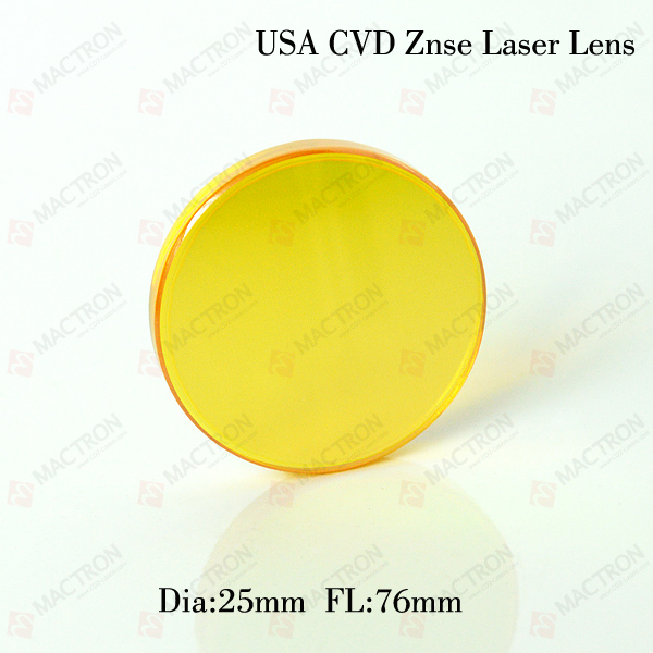 Focus Laser Lens Co2 , Dia 25.4mm FL76mm Usinf for High Power CO2 Laser Tube