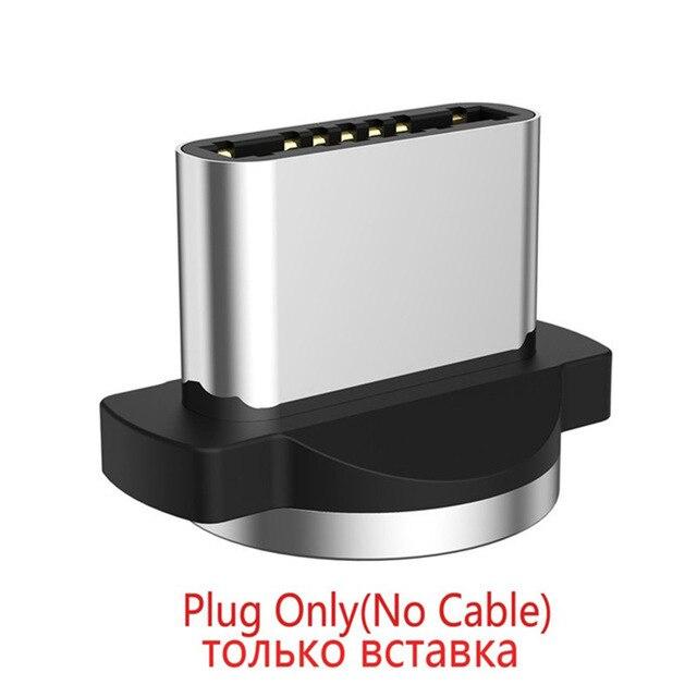 GTWIN 2м 3м Магнитный Micro Type C USB-кабель Адаптер для быстрой зарядки Зарядное устройство Магнитная зарядка для iPhone 11 pro max Xr X 8 7 6 плюс 6 s 5 s плюс iPad Samsung S9 S8 Note 7 mi Xiaomi Huawei P30 P20 Mate - Цвет: only plug no wire