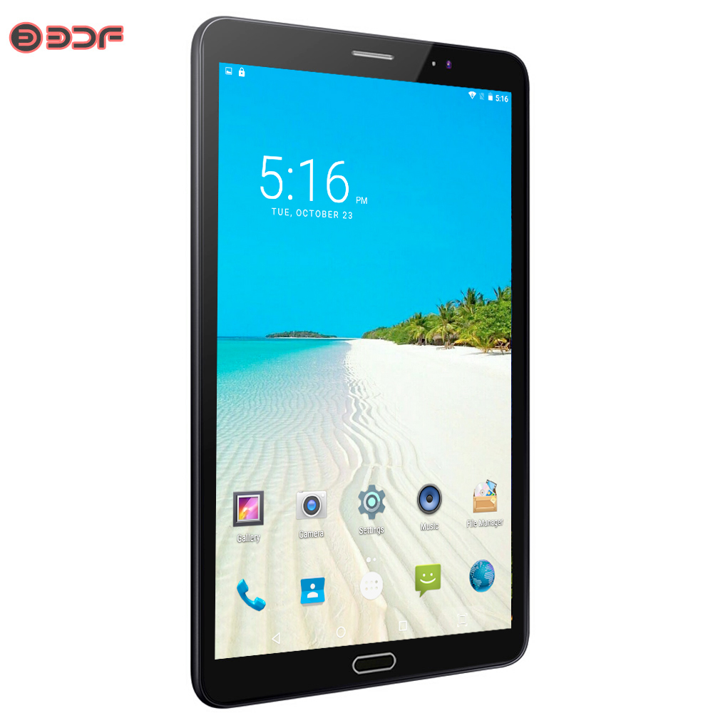 8 pouces Android 6.0 tablette Pc 3G/4G LTE carte SIM appel téléphonique IPS 2.5D écran tablettes 4 GB/32 GB Ultra HD caméra