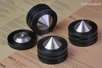 4pcs D49mm Sound Isolation Feet Speaker Spikes HIFI Audio Cones Mounts