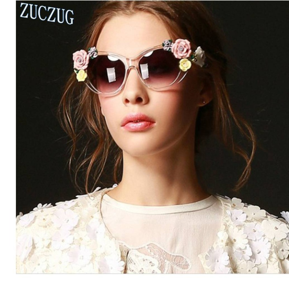 675a02d920 Three-dimensional Roses Baroque Sunglasses Women s Lentes Oculos Gafas De  Sol Feminino Lunette Soleil Flowers