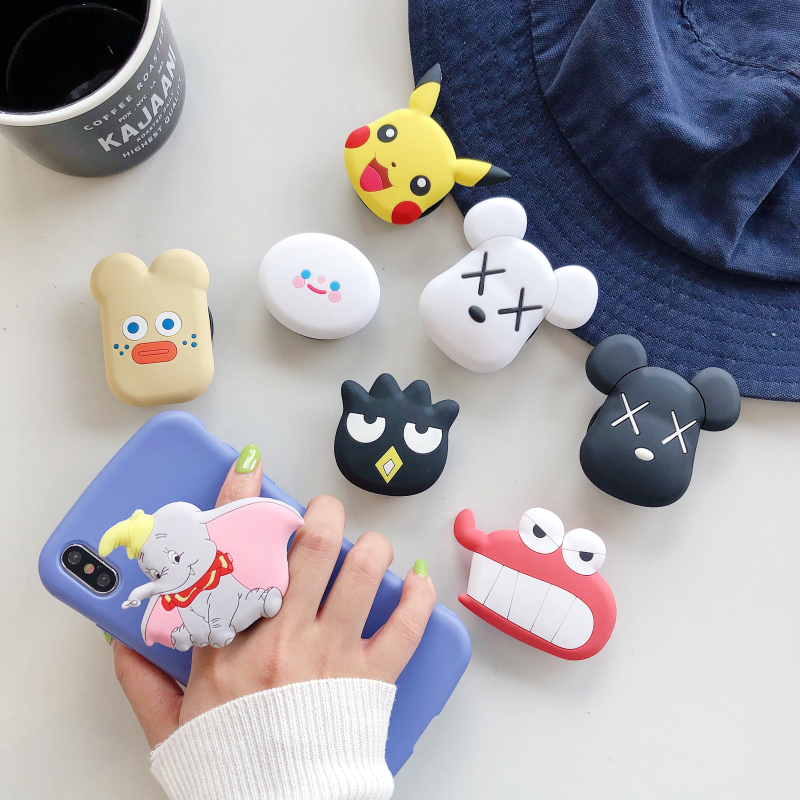 Mount Fold-Stand-Bracket Mobile-Phone-Ring-Holder Airbag Gasbag iPhone Xr Xiaomi Cartoon
