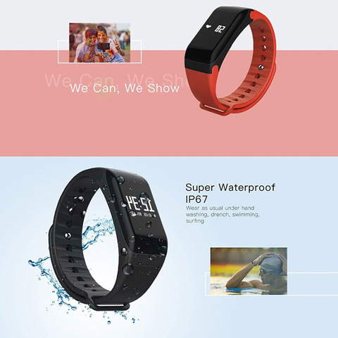 F1 Smart Bracelet Wristband 0.66 inch Screen smart Watch Blood Pressure Monitor Bracelet Fitness Band Heart Rate Monitor Multan