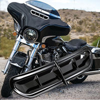 Neverland 1pc Plastic Black Batwing Motorcycle Fairing Vent Accent Cover For Harley Touring FL Trike 14