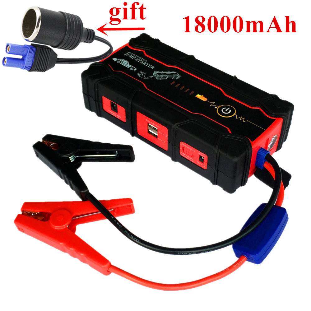 Emergency 18000mAh Car Jump Starter Power Bank Top Car Charger For Car Battery Booster Buster 12V