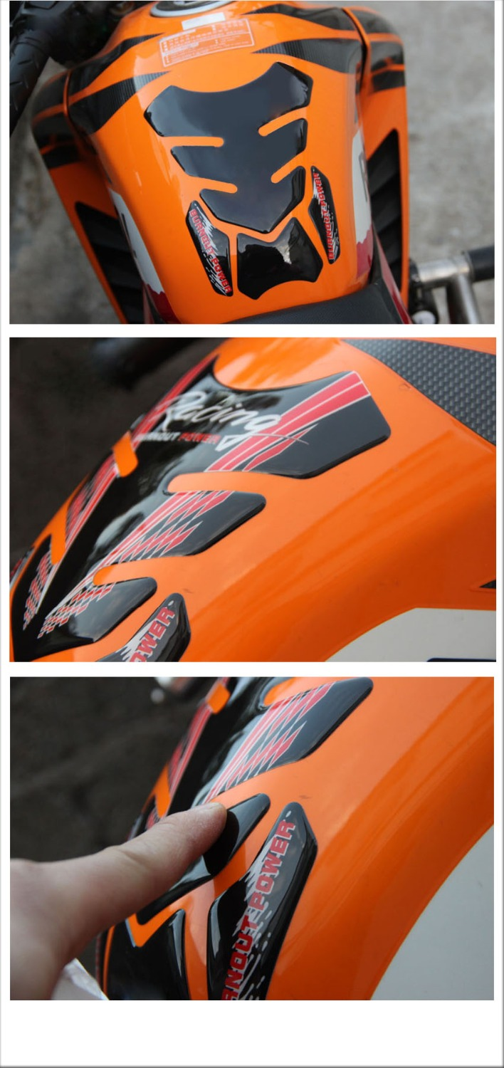 3D motorcycle Stickers And Decals Fule Gas Tank pad Tankpad Protector FOR honda shadow 600 varadero ninja250 suzuki bandit 650 in Decals Stickers from Automobiles Motorcycles