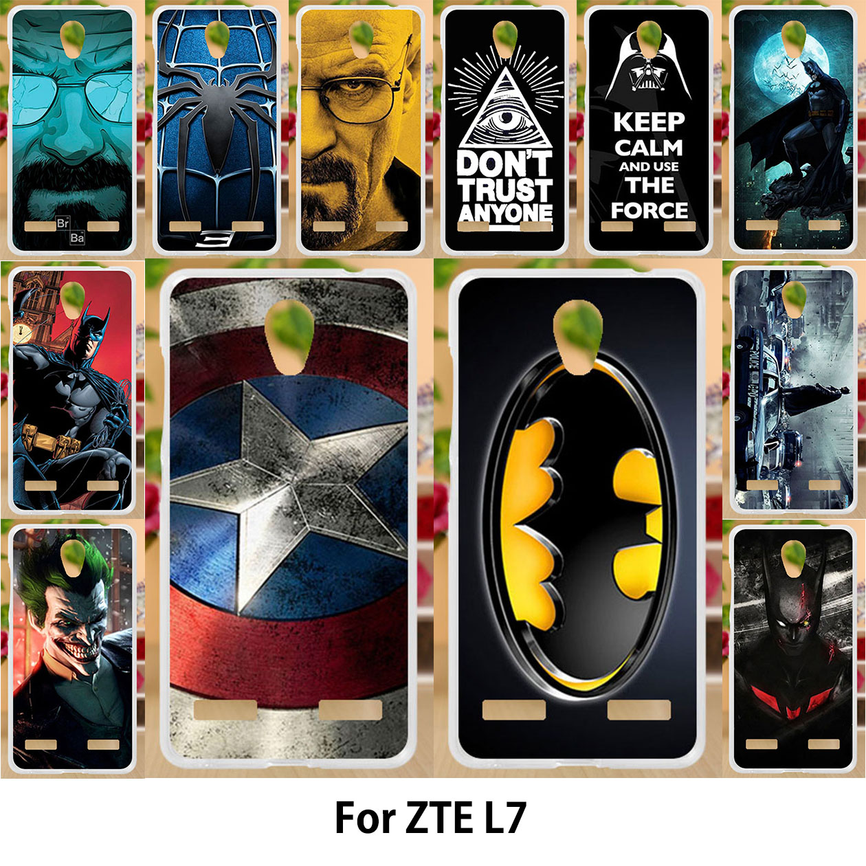 AKABEILA Superman Phone Case For ZTE Blade L7 funda Silicone Soft TPU Covers Painting Batman Captain American Phone Bags Housing