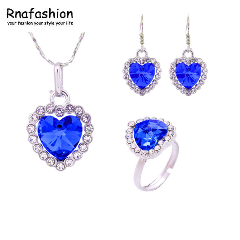 Jewelry / fashion jewelry pendants Chinese suppliers Pointe earrings + necklace + ring sets / 010