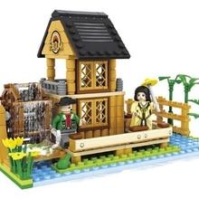 Ausini model building kits compatible with lego city farm 488 3D blocks Educational model