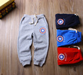 Дети Брюки 2016 осень детские брюки для Мальчиков полосатый хлопок Дети шаровары махровые Bbay Мальчики Капитан Америка брюки