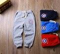 Pantalones de los cabritos 2016 Niños del otoño pantalones para Niños Niños algodón a rayas pantalones harén terry Bbay Niños Capitán América pantalones