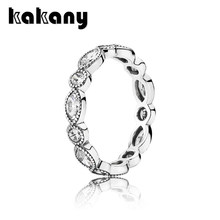 KAKANY 925 Sterling Silver Alluring Brilliant Marquise Stackable Ring Couple Gift Original High Quality 1:1 Fashion Jewelry DIY(China)