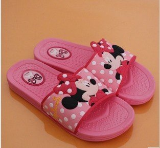 Free shipping cute girl's Minny slippers,babouche,indoor slippers,high quality!