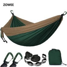 10 Colors 2 People Hammock Camping Survival Garden Flyknit Hunting Leisure Hamac Travel Double Person Hamak with Hammock strap все цены