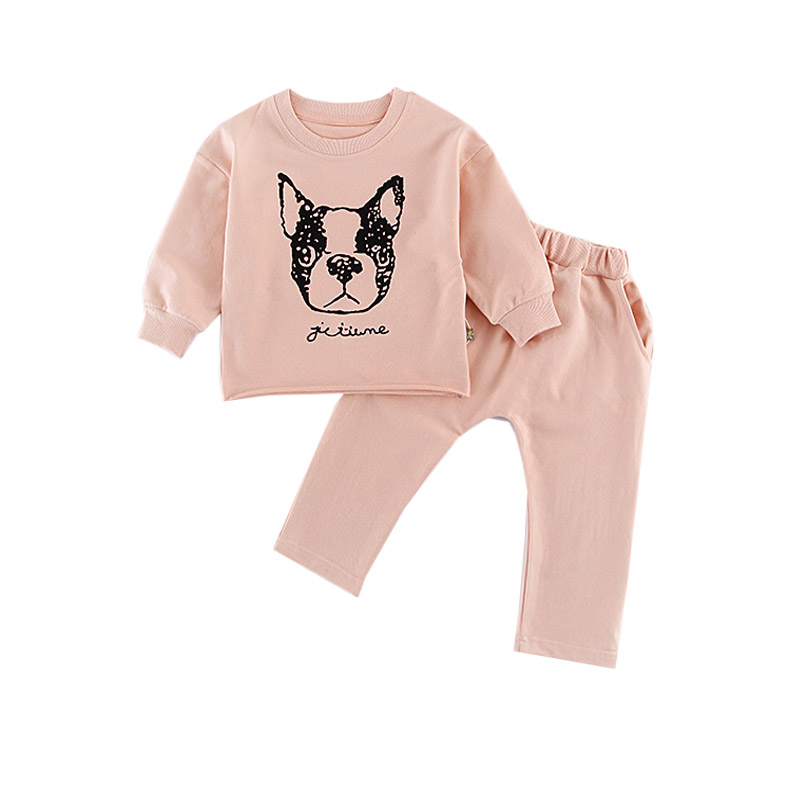 Spring Baby Girl Clothes Sets Boys Long Sleeve Dog Tops+Pants Kids Clothes Children Clothing Cute Outfits 2pcs Costume