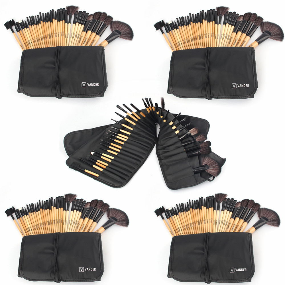 Vander 5x 32pcs/set Lots MakeUp Brushes Tools Foundation Face&Eye Powder Blusher Professional Cosmetics Makeup Brush With Bag vander 5 32pcs makeup brush set