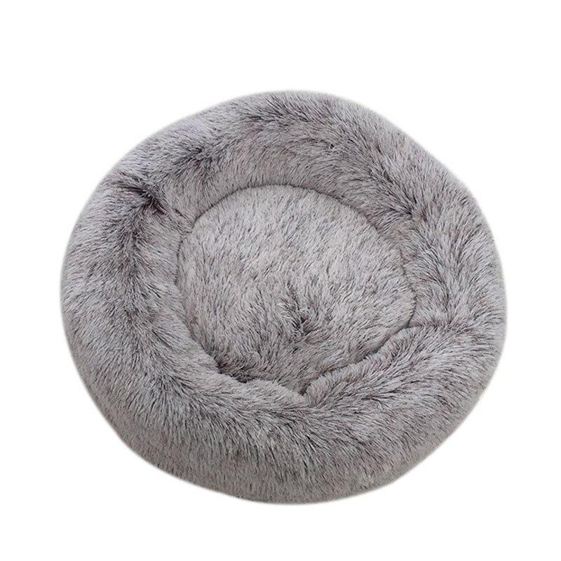 Shag Plush Donut Cuddler Cat Bed Warm Plush Dog Puppy Mat Pet Beds TT best in Houses Kennels Pens from Home Garden
