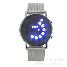 Blue Circle Wrist Watch For Mens Relojes Hombre 2020sports Men Led Dgital Watches Male Hours Luxury Stainless Steel Watch #YL5(China)
