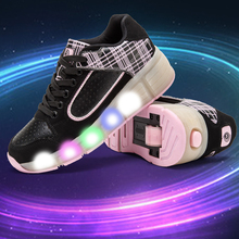 2016 New Child Wheely's Jazzy Junior Girls Boys LED Light Wheely's Roller Skate Shoes For Children Kids Sneakers With Wheels
