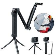 3 Way Grip Waterproof Monopod Selfie Stick For Gopro Hero 5 6 4 Black Session SJ4000 for Xiaomi Yi 4K Sports Camera Tripod Stand selfie camera monopod stick fits for gopro hero 4 3 3 2 1 sj4000 sj5000 sj6000 xiaomi yi