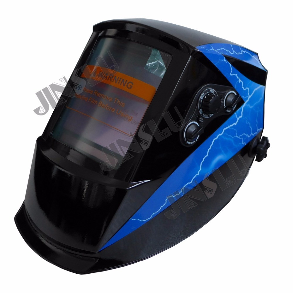 View Area 101*94mm Solar Auto Darkening Welding Helmet TIG MIG MAG MMA Face Mask Electric Welding Cap wedling tool football pro solar auto darkening shading tig mig mma arc welding mask helmet welder cap for welding machine
