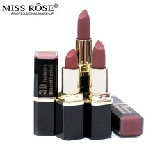 miss rose 6pcs/set waterproof matte lipstick Nude Brown batom velvet lips tint sexy red lip stick beauty Long Lasting makeup