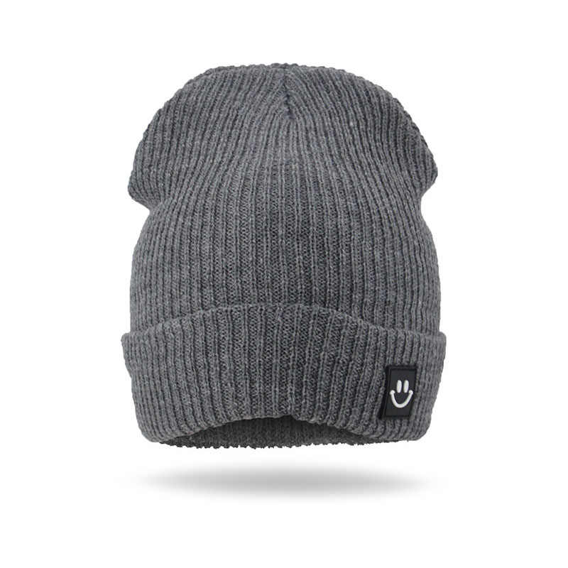 ถักสี Smile Girl หมวกเด็กฤดูหนาวหมวก Beanies ฝ้ายเด็กชายเด็กหญิงหมวกฤดูหนาวหญิงหมวกสำหรับหญิงหมวกอบอุ่น