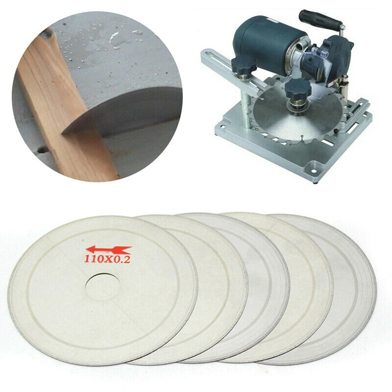 5pcs  4.5inch 0.2mm Thin Diamond Lapidary Saw Blade Cutting Disc Rim 0.01'' Saving In Material For Jewelry Gems