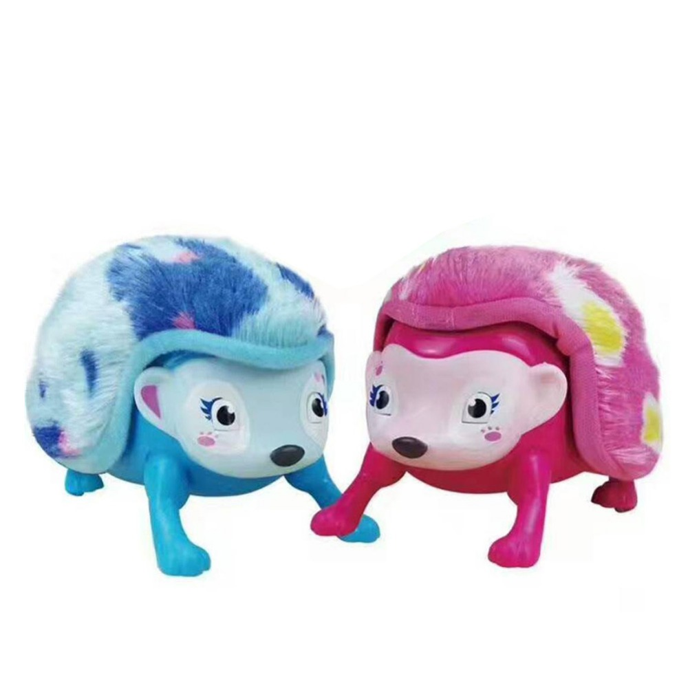 1pcs Interactive Pet Hedgehog with Multi-modes Lights Sounds Sensors Light-up Walk Roll Headstand Toys for children