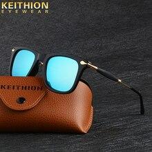 KEITHION фирменный дизайн классические Поляризованные солнцезащитные очки для мужчин и женщин для вождения квадратная оправа солнцезащитные очки UV400 очки