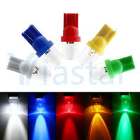 1000 X T10 W5W 194 168 1 LED convex Wedge bulb 1LED lamp door lamp instrument lamp Dashboard lamp white red blue yellow green