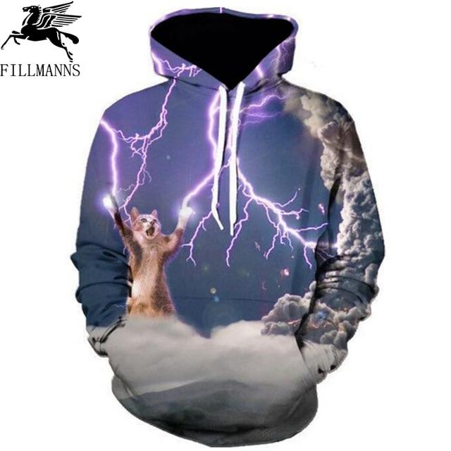 FILLMANNS Thundercats hoodies men cat lightning thunder 3d hoodie Women/Men Sweatshirts harajuku hoody casual sweatshirt