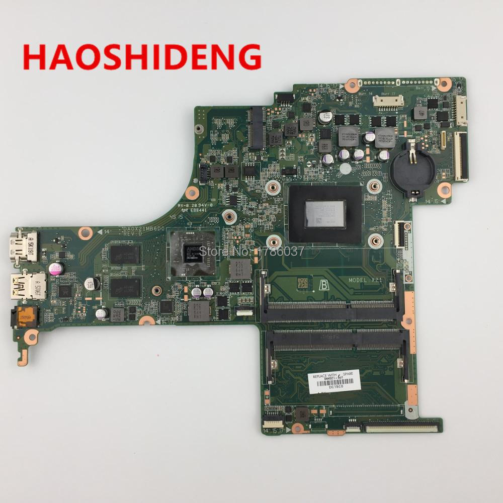 844521 601 DA0X21MB6D0 X21 for HP Pavilion Notebook 17 G series motherboard with R7M360/2GB A10 8780P CPU