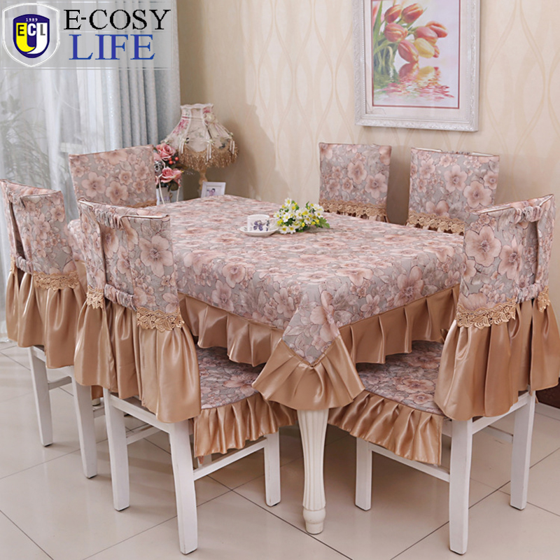 hot sale rectangular table cloth christmas home decoration printed tablecloth floral chair cushions for kitchen chairs - Chair Cushion Covers