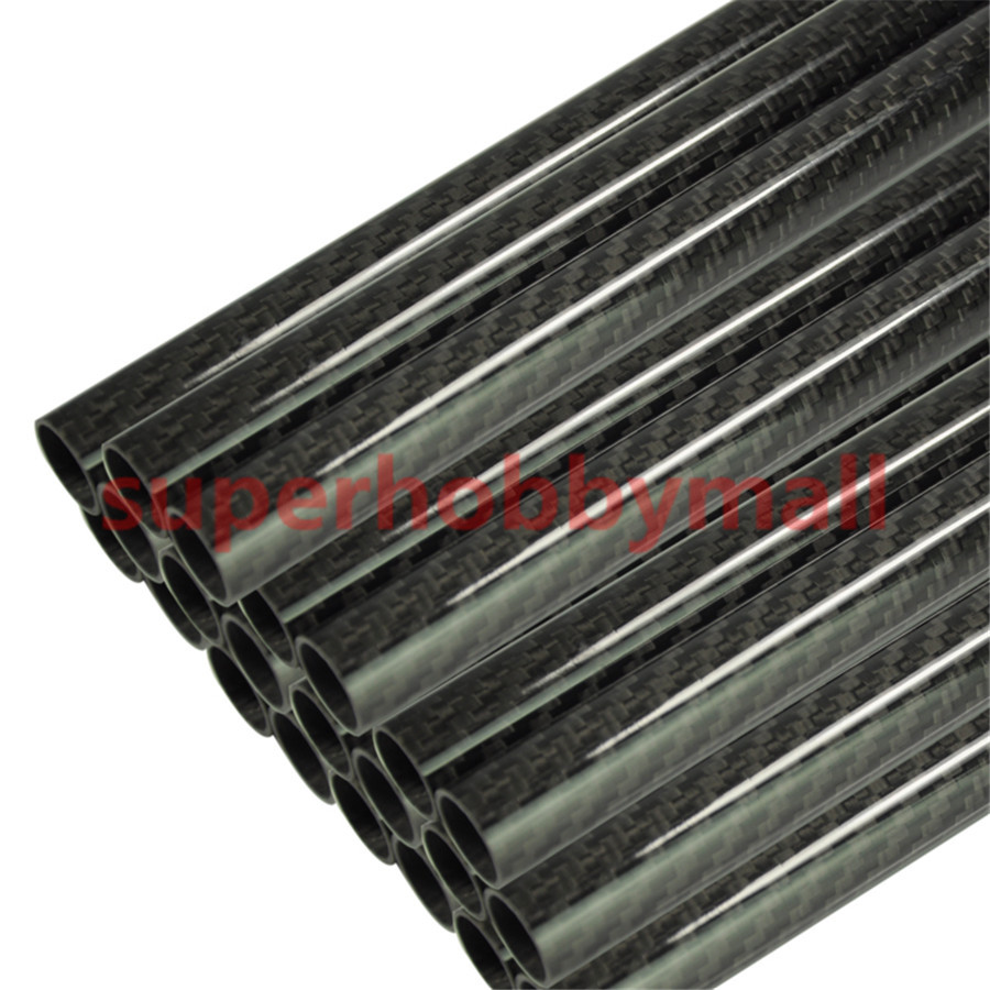 2pcs 3K Plain Weave Glossy Surface Carbon Fiber Tube Length 500mm 8mm 10mm 12mm 14mm 16mm 18mm 20mm 22mm 24mm 26mm 28mm 30mm 1sheet matte surface 3k 100% carbon fiber plate sheet 2mm thickness