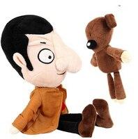 2PCS Mr Bean 40cm His Teddy Bear 28CM Set Plush Toy Soft Stuffed Kids Toys Dolls