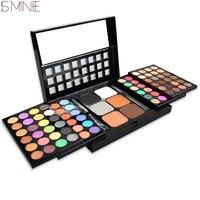 ISMINE 78 Color Makeup Eyeshadow Palette Powder Blush Eye Shadow Mixed Make Up Palette 2 Layer
