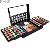 ISMINE 78 Color Makeup Eyeshadow Palette Powder Blush Eye Shadow Mixed Make Up Palette 2 Layer